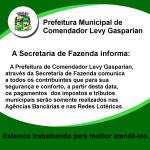 Secretaria da Fazenda Marcelo Comuicado